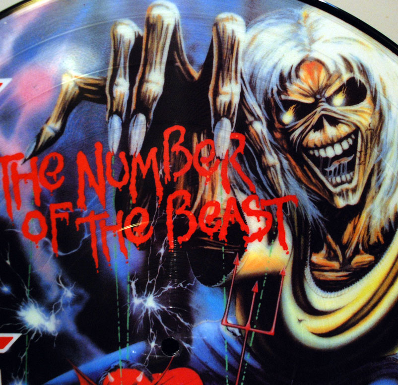 iron maiden the number of the beast picture disc vinyl lp 12 inch
