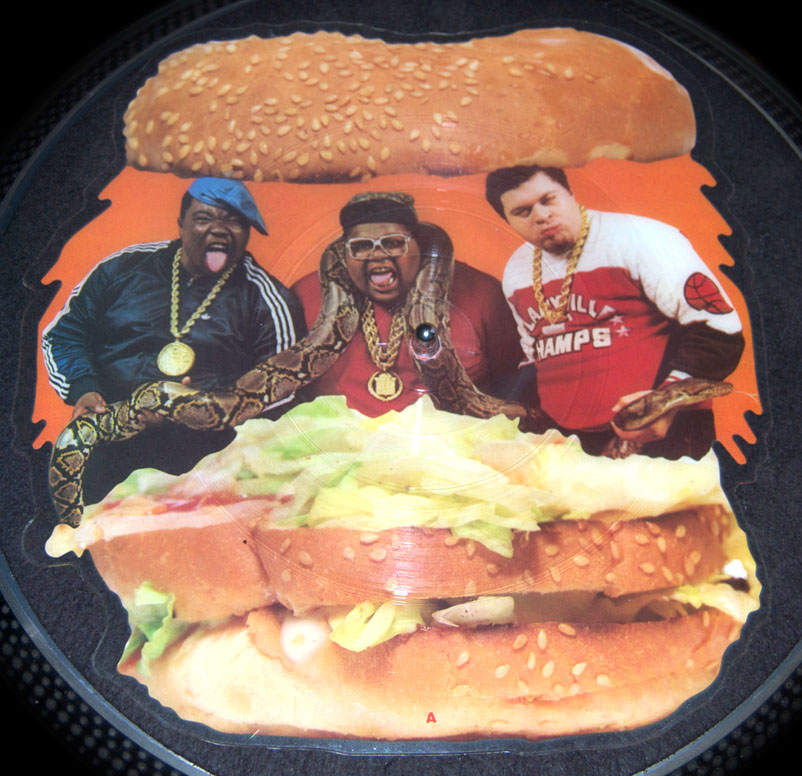 fat boys wipeout burger shaped 7 picture disc vinyl 12 inch. Black Bedroom Furniture Sets. Home Design Ideas