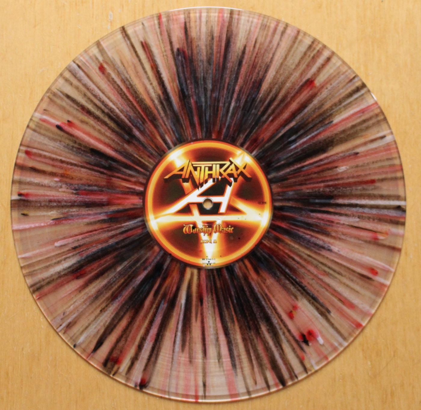 Anthrax Worship Music Splatter Vinyl Lp 12 Inch